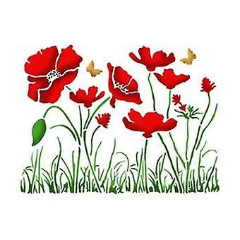 Stamperia Stencil A5 Poppies (KSD269)