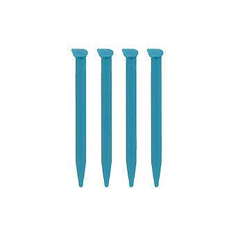 Replacement slot in touch stylus pens for nintendo 2ds xl - 4 pack turquoise