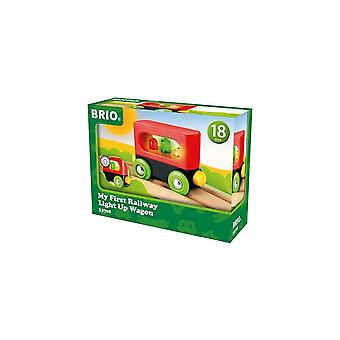 Brio 33708 Brio My First Railway Light Up Wagon