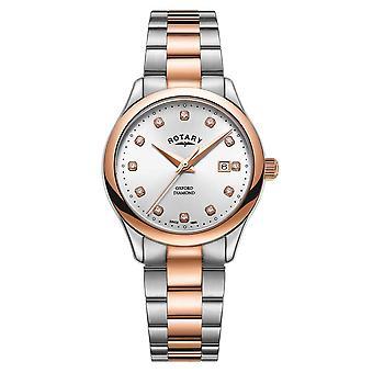 Roterende LB05094-70-D kvinner ' s Oxford Diamond set armbåndsur