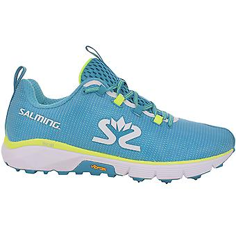 Salming Mens Ispike Winter Running Trail Outdoor Sports Trainers Shoes - Blue