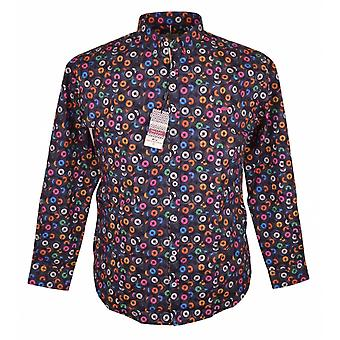 DARIO BELTRAN Dario Beltran Record Print Stretch Shirt