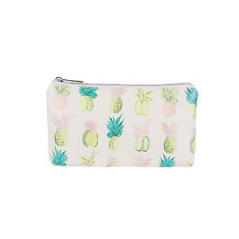 Jewelcity kvinner/Ladies ananas liten flat makeup bag