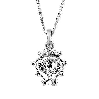 """Colgante de collar de amor y lealtad de Luckenbooth escocés - incluye 20"""" Cadena"""