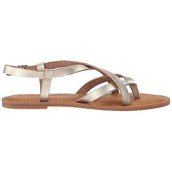 Amazon Essentials Women's Casual Strappy Sandal, Gold, 8 B US