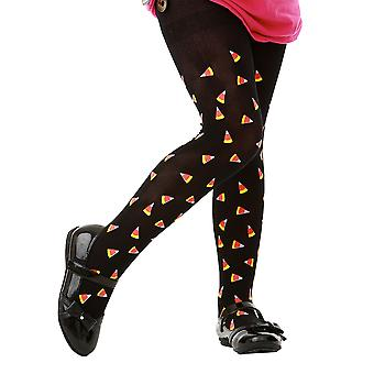 Black Candy Corn Costume Tights, M