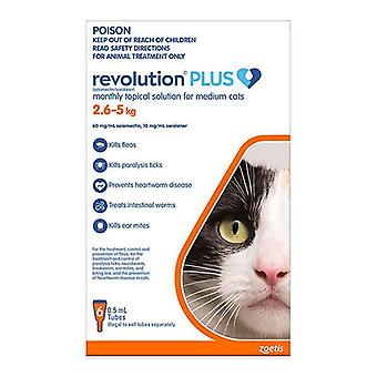 Revolution Plus for Medium Cats 5.6-11 lbs (2.6-5 kg) - 6 pack
