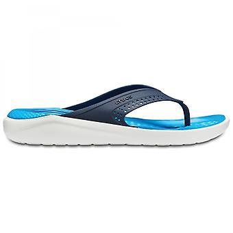 Crocs 205182 Literide Flip miesten varvas sandaalit Navy/valkoinen