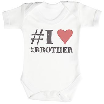 #I 愛私の弟赤ちゃんボディー スーツ/Babygrow