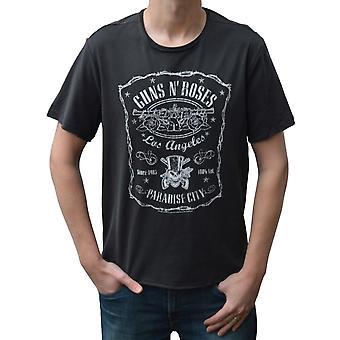 Ενισχυμένα πυροβόλα N ' τριαντάφυλλα La παράδεισος πλήρωμα λαιμό της πόλης T-shirt
