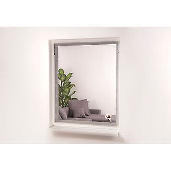 Fenêtre 130 x 150 cm blanc de protection insectes magnétiques
