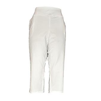 Kvinner med kontroll Petite leggings XL mage kontroll beskjære hvit A292370