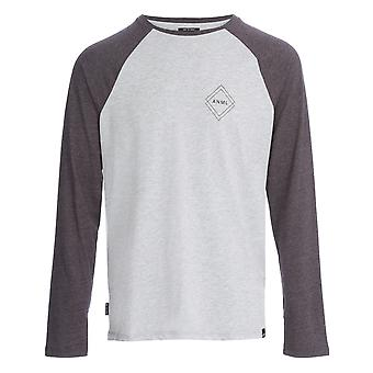 Animal Mono Long Sleeve T-Shirt in Grey Marl