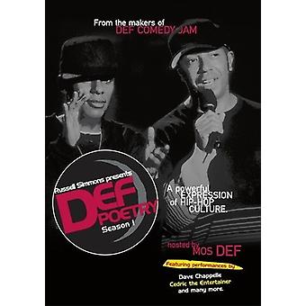 Russell Simmons Presents Def Poetry: Season 1 [DVD] USA import