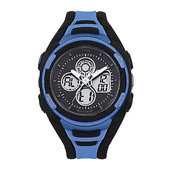 Tekday 655950 Watch - Digital Multifunction Silicone Black and Blue Men