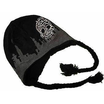 New Kids Boys Knitted Skull Logo Peru Style Beanie Warm Thermal Winter Hat