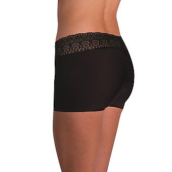 Naomi and Nicole Edgies Black Lace Boyshort A166