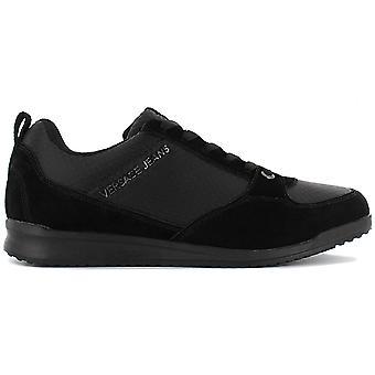 Versace Jeans Linea Fondo Gas Dis.1 E0YSBSC3-899 Men's Shoes Black Sneakers Sports Shoes