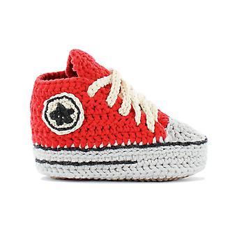 Baby slofjes rood-wit maat 21 sneaker sportschoenen