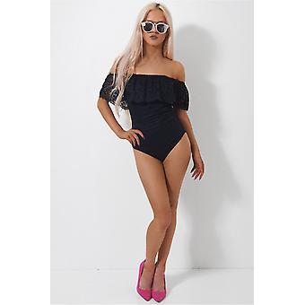 Bardot Lace Bodysuit