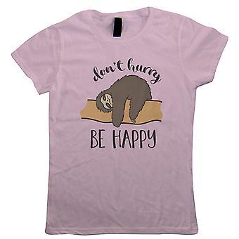 Sloth olla onnellinen, naisten T-paita-eläimet lahja hänen MUM