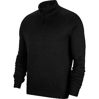 Nike Mens Dry Fit Players Half Zip Wicking Golf Sweater