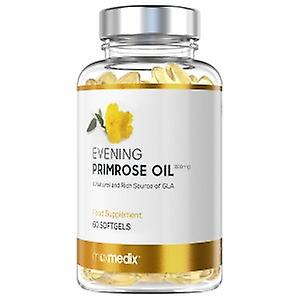 Evening Primrose Oil Softgels - Essential Fatty Acid Softgels For Menopausal Support - Rich source of Omega-6 - Protective Vitamin E - 60 Softgels