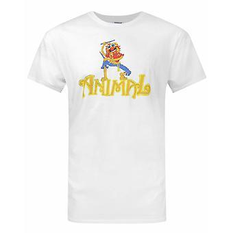 Muppets Animal Drummer White Men's T-Shirt
