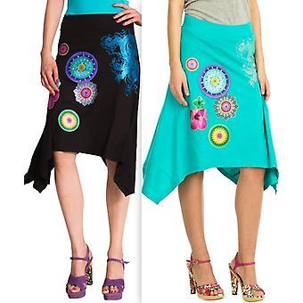 DESIGUAL γυναίκες ' s κυματιστό στρίφωμα Λίμα φούστα