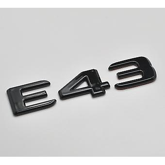 Gloss Black E43 Flat Mercedes Benz Car Model Rear Boot Number Letter Sticker Decal Badge Emblem For E Class W210 W211 W212 C207/A207 W213 AMG