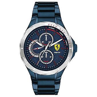 Scuderia Ferrari | Pista Masculina 's | Pulseira de aço banhada por íon azul | Relógio blue dial 0830759