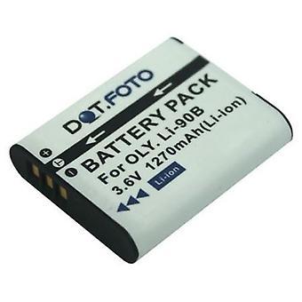 Dot.Foto Olympus LI-90B, de batterij van de vervanging van de LI-92B - 3.6V / 1270mAh