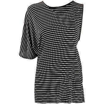 Mm6 Maison Margiela S52gc0142s23582001f Women-apos;s White/black Viscose T-shirt