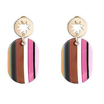 Sparkle Womens/Ladies Stripe Earrings