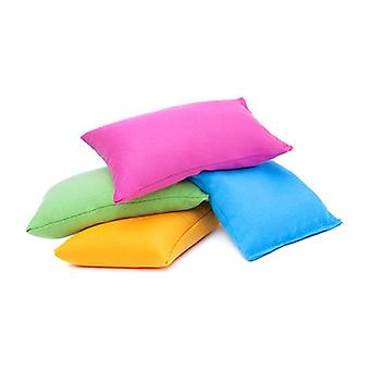 4 paquet de couleurs assorties Coton Fabric Bean Bags for Sports, PE, School, Catching Games, Sensory, Juggling