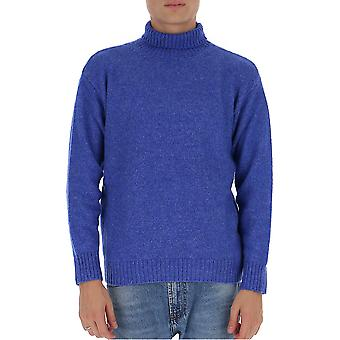 Laneus Mgu557cc3cielo Men's Blue Wool Sweater
