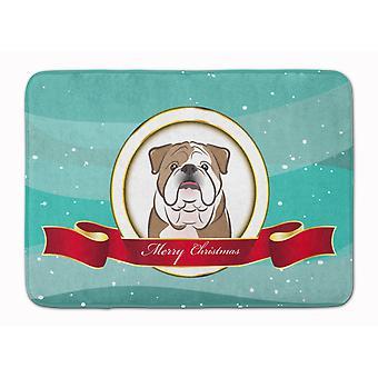Bulldog anglais Merry Christmas de tapis de mousse de mémoire lavable Machine