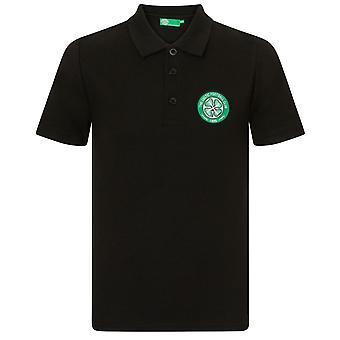 Celtic FC Official Football Gift Boys Crest Koszulka polo