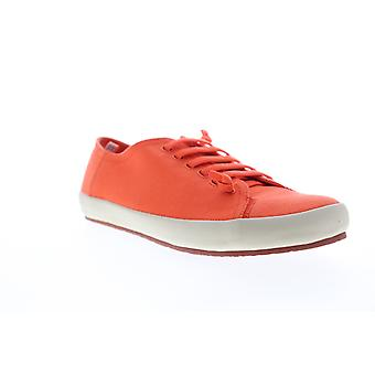 Camper Peu Rambla Vulcanizado  Mens Orange Canvas Euro Sneakers Shoes