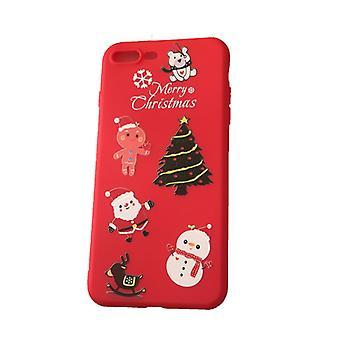 Mobiele Peel iPhone 7/8 plus met kerst motief-rood