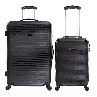 Karabar Grantham II Set of 2 Hard Shell Suitcases, Black