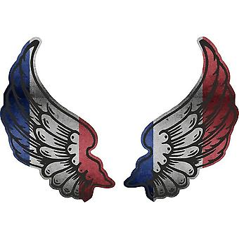Sticker sticker Wings biker flag country F france