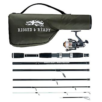 World Traveller Compact Travel Fishing Rod, Reel and Case Combo with 2 rod tips