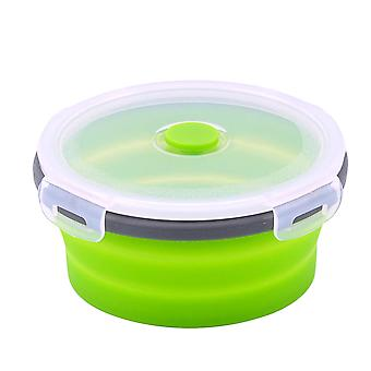 Round Bento Box Lunch Box Silicone Folding Food Container