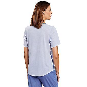 Rösch 1203253-12560 Women's Pure Minimal Blue Pyjama Top