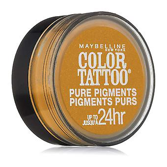 Maybelline Color Tattoo Pure Pigments Eyeshadow, Wild Gold 25 { 3 Pack }