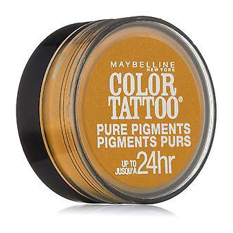 Maybelline Цвет Татуировка Чистые Пигменты Тени для век, Дикое Золото 25 и 3 Pack