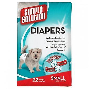 Einfache Lösung Einweg Hund Windeln (Packung mit 12)
