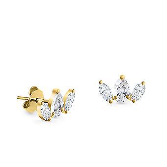 Boucles d'oreilles stud 3 Marquise 18K Or et Diamants