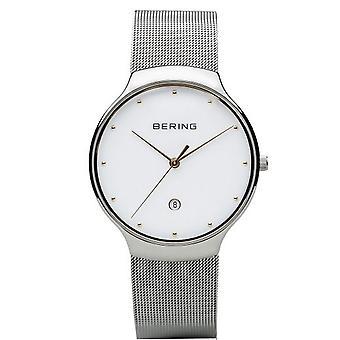 Bering Men's Watch Wristwatch Slim Classic - 13338-001 MeshBand